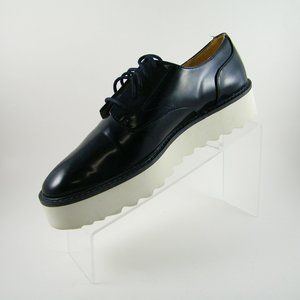 Zara Flat Platform Derby Shoes 8